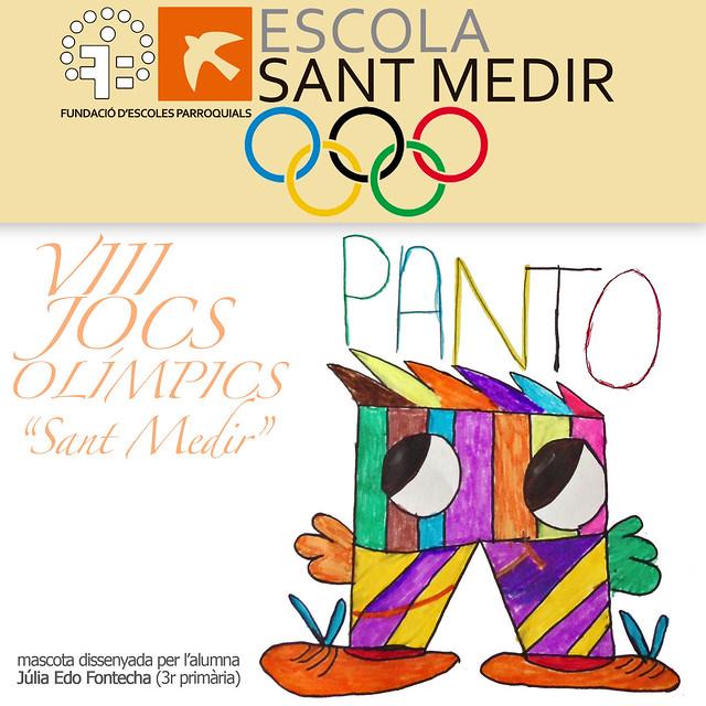 """mascota dels VIII Jocs Olímpics """"Sant Medir"""""""