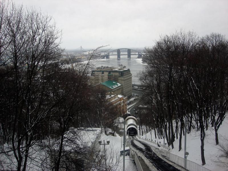 Kiev city winter time