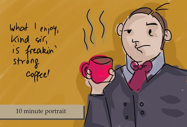 10 minute portrait