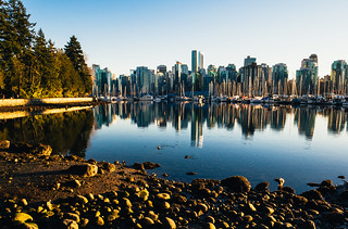 Vancouver downtown from Stanley Park