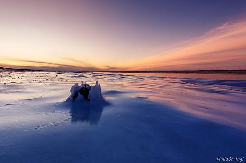 blue sunset sky ice rock iceland nikon d750 nikkor halldor 2016 borgarnes borgarfjörður ingi 1424