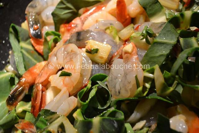 Crevettes et Bettes au Curry Rouge © Ana Luthi Tous droits réservés 06