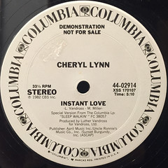 CHERYL LYNN:INSTANT LOVE(LABEL SIDE-A)