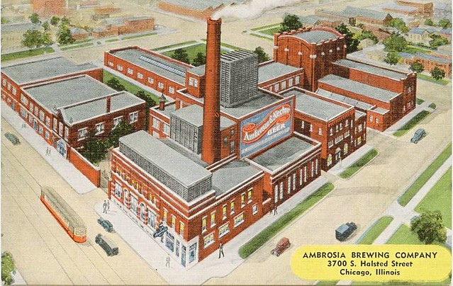 postcard-chicago-ambrosia-brewing-company-3700-s-halsted-aerial-c1930