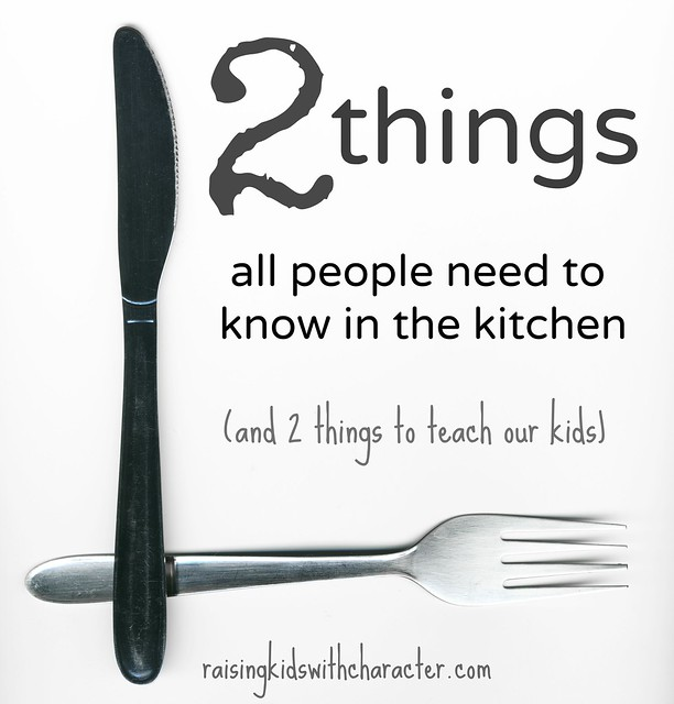2 Things All People Need to Know in the Kitchen