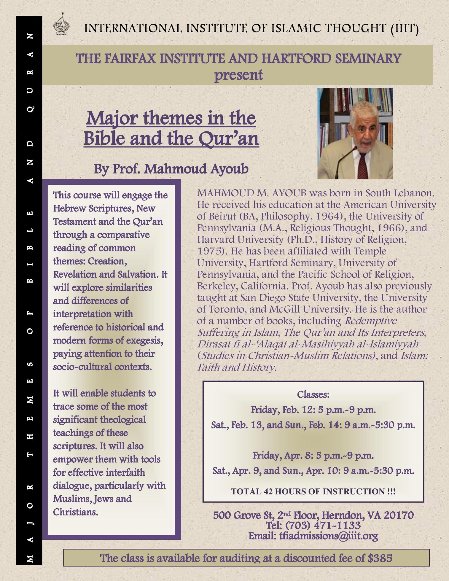 Major Themes in the Bible and the Qur'an