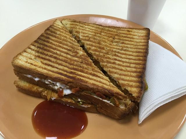 Mushroom Masala sandwich