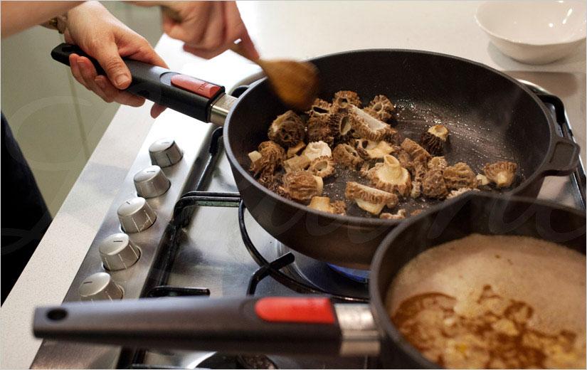 Cocinando con estas excelentes sartenes