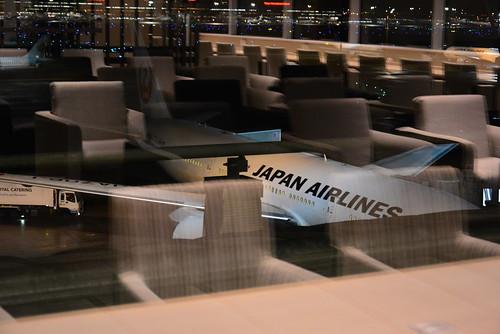 羽田空港国際線スカイラウンジアネックスからの眺め