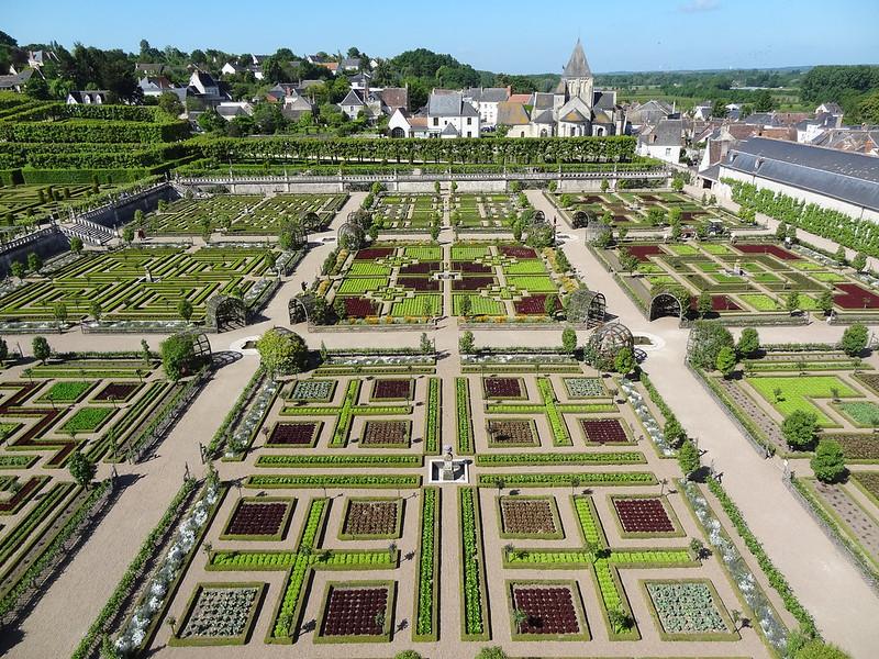 Ajedrez jardines Villandry