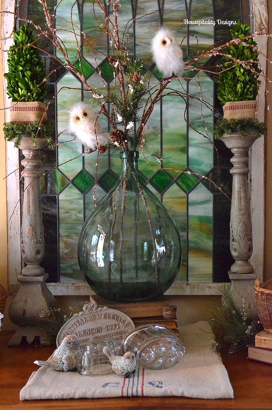 Winter Vignette/Stained Glass - Housepitality Designs