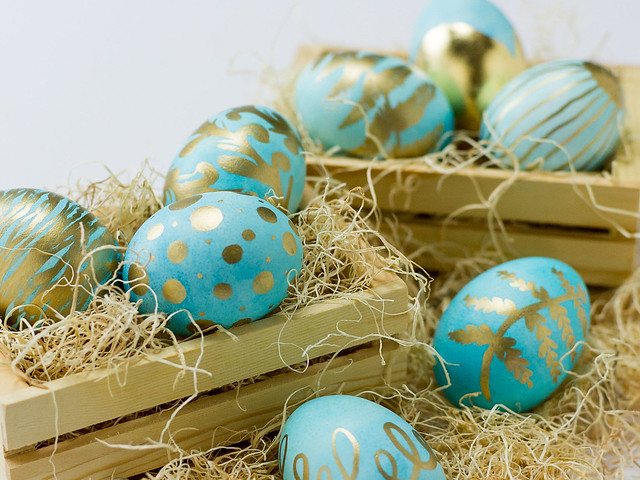 Gold Leaf Easter Eggs