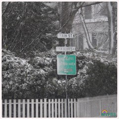 Blizzard!  #SnowStorm #Edgartown #StreetSign #WhichWayDoWeGoWhichWayDoWeGo #OnOurWay to #OakBluffs #PlayingInTheSnow #PicketFence #Perfection #WhiteOut #BlizzardWarning #ThisIsNotAWarning #ThisIslandIsClosed #DriveSafely #WinterWonderland #DownIsland #Mar