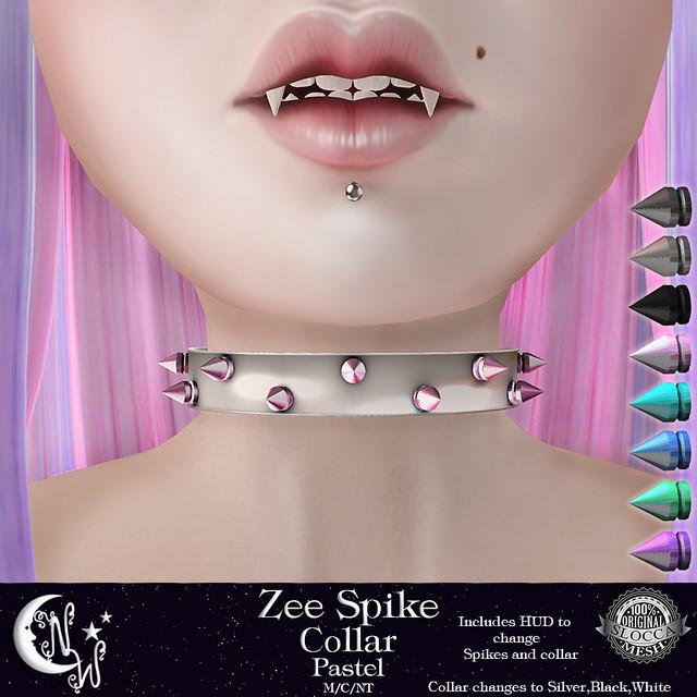 *NW* Zee Spike Collar - Pastel
