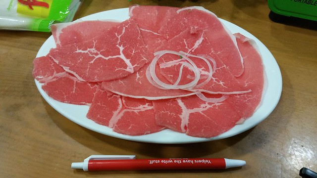 2016-Mar-3 Song Huong - Beef 7 Ways - raw thinly sliced beef