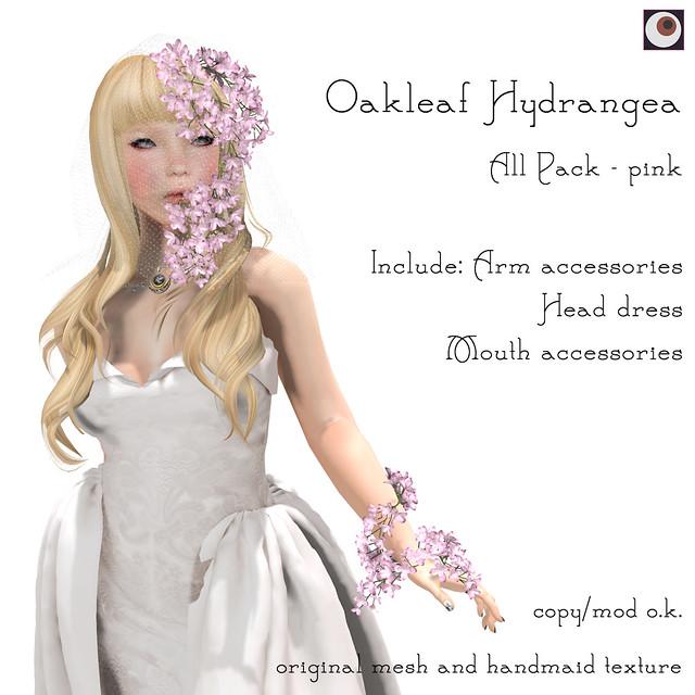 *NAMINOKE*Oaklear Hydrangea - Pink