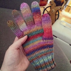 And I have a glove :) Having a relaxing birthday inside while the snow keeps falling outside. #knitterslife