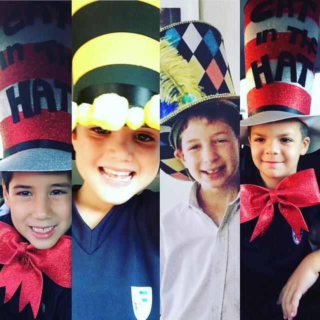 BOYS JUST WANNA HAVE FUN! #marujatz #marujatzkids #marujatzguate #marujatzworldwide #drseuss #catinthehat #tophat #fun #boyswillbeboys #milliner #millinery