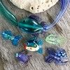 Glass fish for earrings and pendantswww.bahamadawn.com