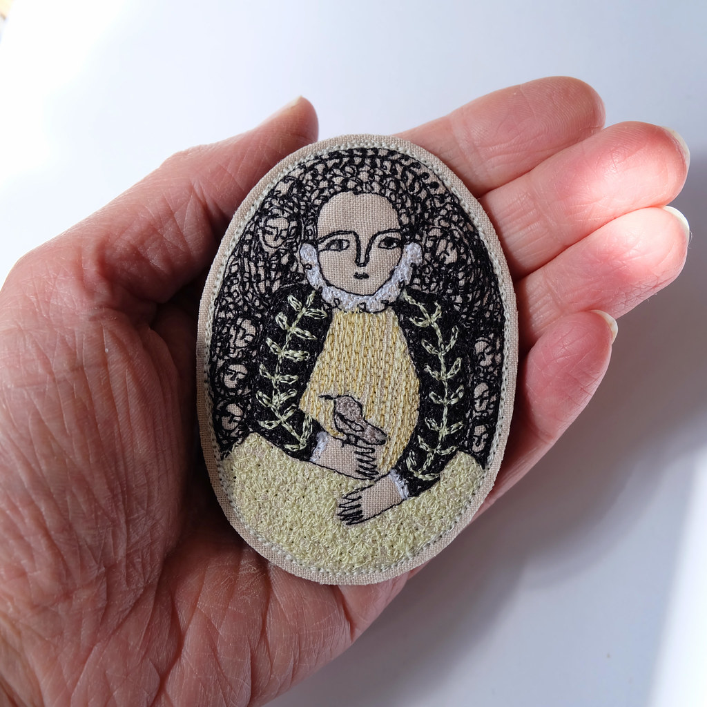 a gentle song - portrait brooch