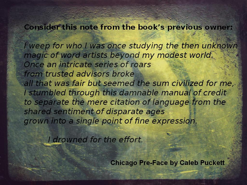 Chicago PreFace