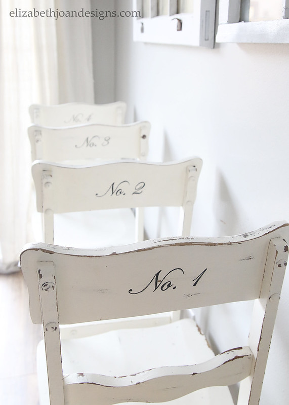 Script Numbered Chairs