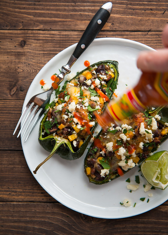 Chorizo and Black Bean Stuffed Poblano Pepper | Will Cook For Friends