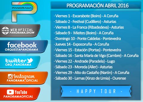 Orquesta Panorama Calendario.Panorama Presenta Sus Fechas De Abril 2016 Orquestas Y Fiestas