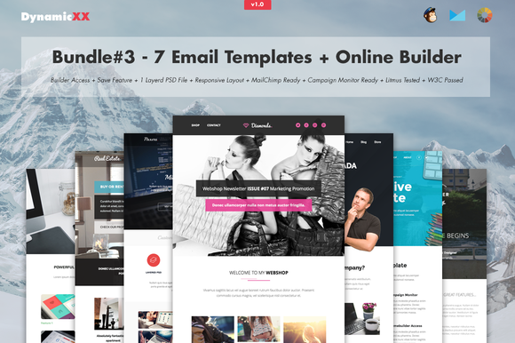 Bundle#3 – 7 Email Templates+Builder