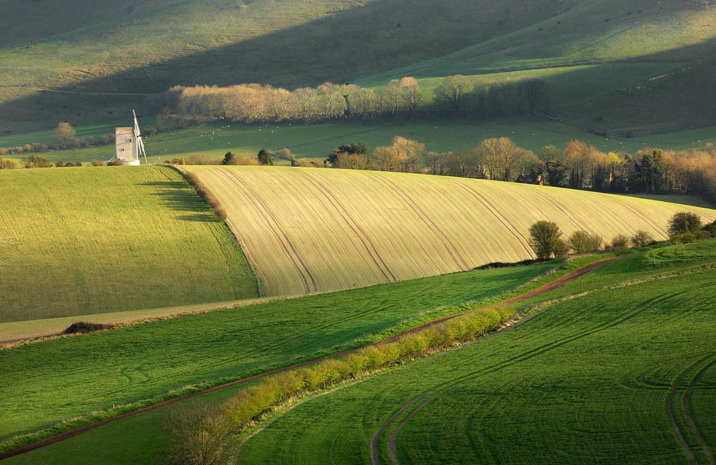 Ashcombe Windmill and Kingston Ridge