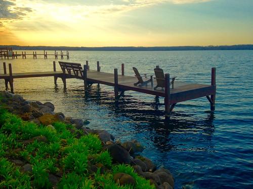 Morning at Green Lake, Wisconsin