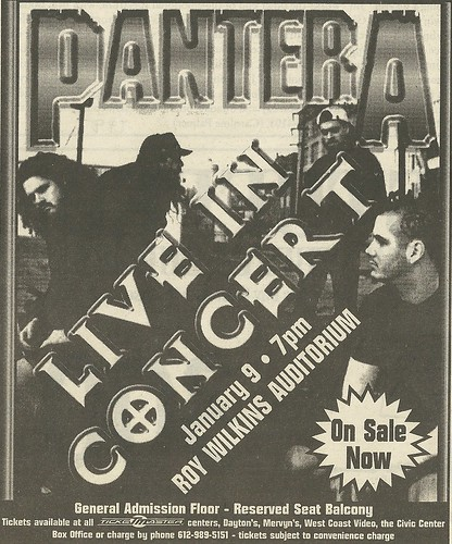 01/09/97 Pantera/ Neurosis @ Roy Wilkins Auditorium, St. Paul, MN (Ad002)