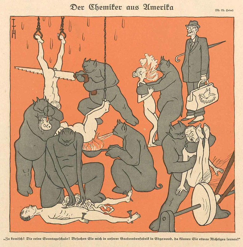Thomas Theodor Heine - The Chemist From America, 1922