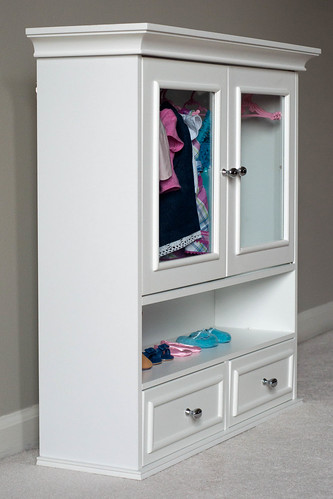 Bathroom Cabinet Doll Clothes Wardrobe Storage