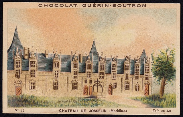 French Tradecard - Chateau de Josselin