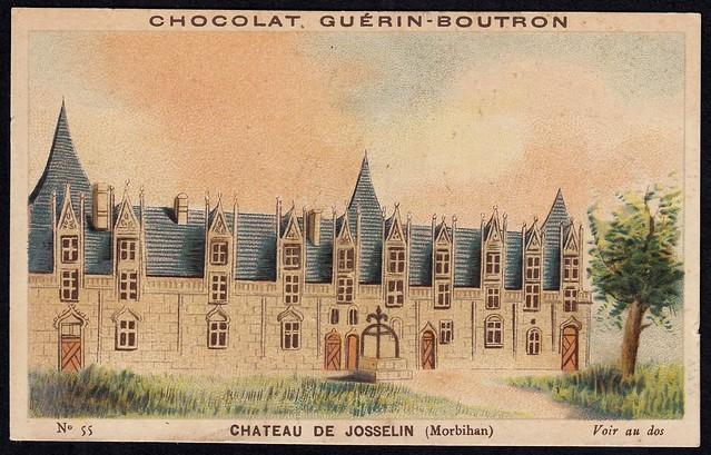 French Tradecard - Chateau de Josselin