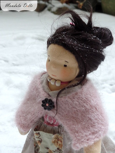 Liza 35cm waldorf style doll with weft mohair hair_5