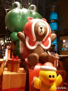 朗豪坊 MONGKOK HONGKONG LINE 連我 2015 CIRCLEG 聖誕裝飾 (2)