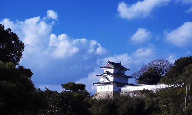 明石城跡。現在は櫓のみです。