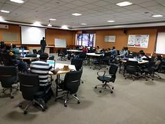 Chakrapani talking about Bangalore Drupal Community