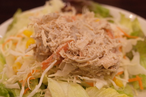 蒸し鶏と金ゴマごぼうサラダ