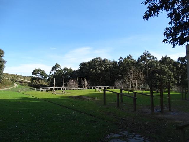 Zona deportiva en el parque de Bens en A Coruña
