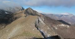 l'affilata cresta aerea del monte Lo Spicchio
