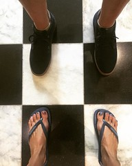 The boy and his new blue suede shoes. #happyfeet #Manila #fromwhereistand