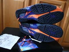 "air jordan 8 retro ""phoenix suns"" - size 11 (pre-owned)"