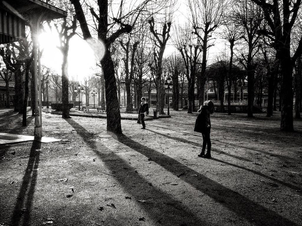 Pluie sur le parc de Vichy / Raining in The Park of Vichy