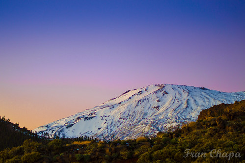 color atardecer wow nieve snow snowy sunset colors bright tei teide canarias canarian tenerife nikon 3200 noche nigth long exposition