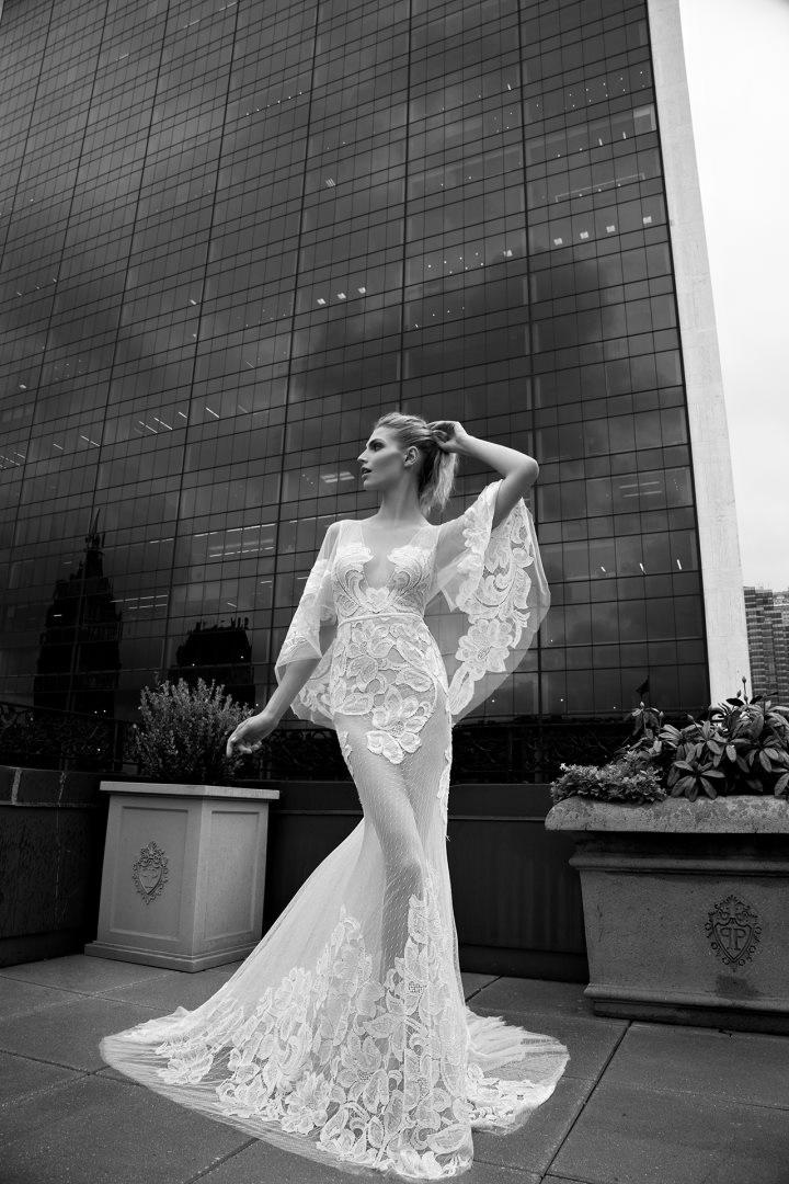 Inbal Dror 2016 Wedding Dresses - Ivory Mermaid wedding dress with sheer cover ups | itakeyou.co.uk