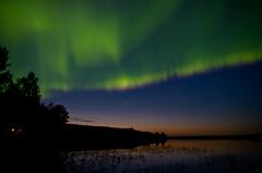 Northern light autumn