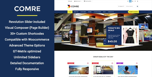 Themeforest Comre v2.0 - Coupon Codes & Affiliates WordPress Theme